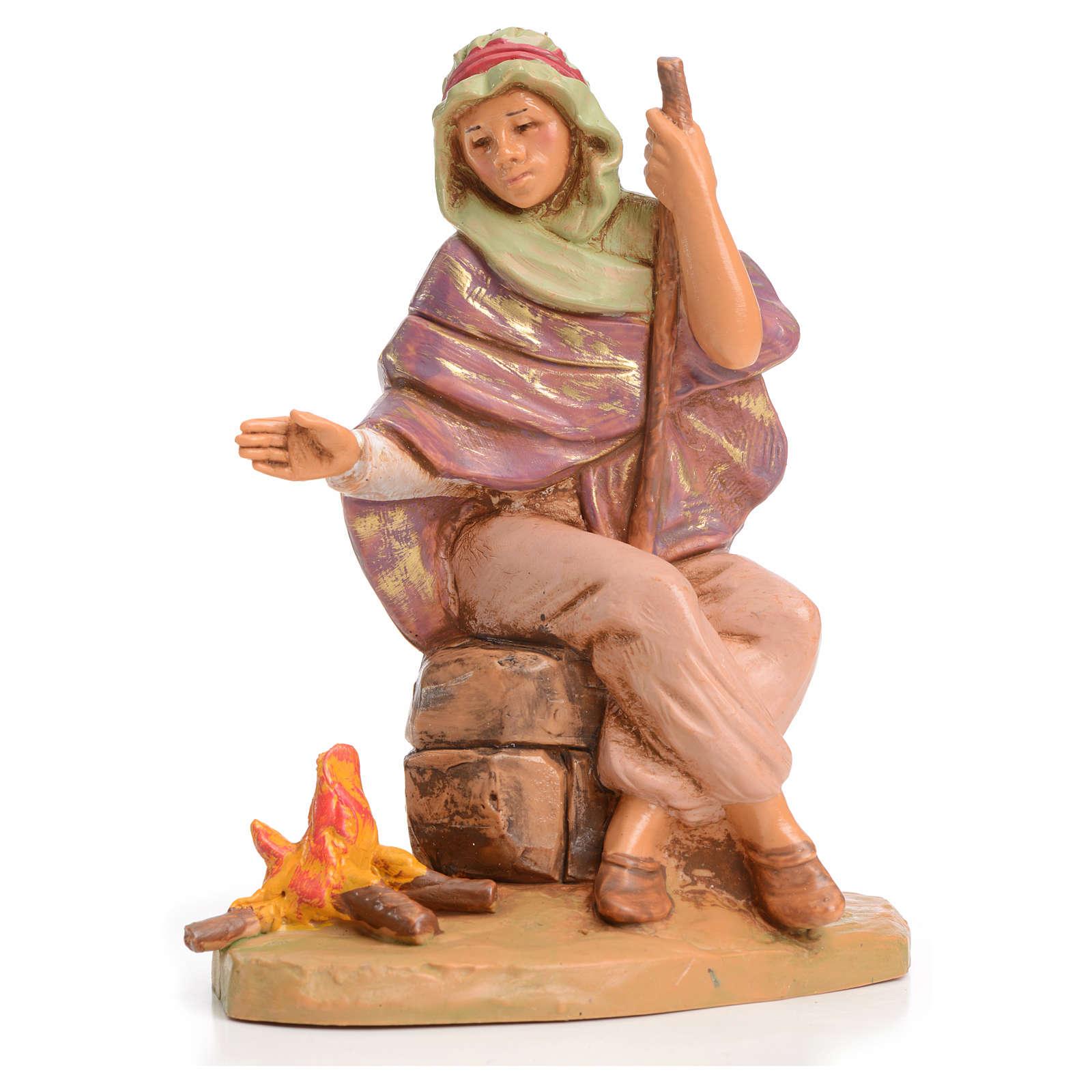 Pastor con fuego 12 cm Fontanini 3