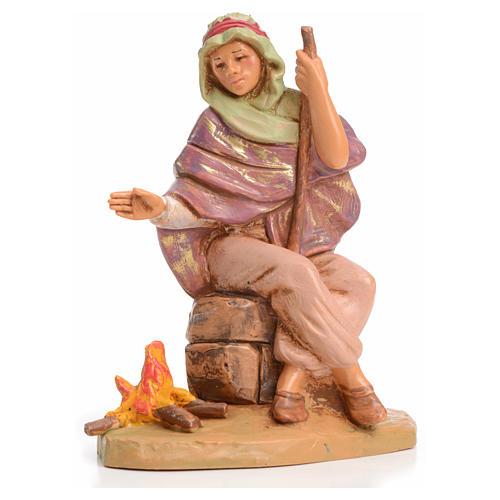 Pastor con fuego 12 cm Fontanini 1