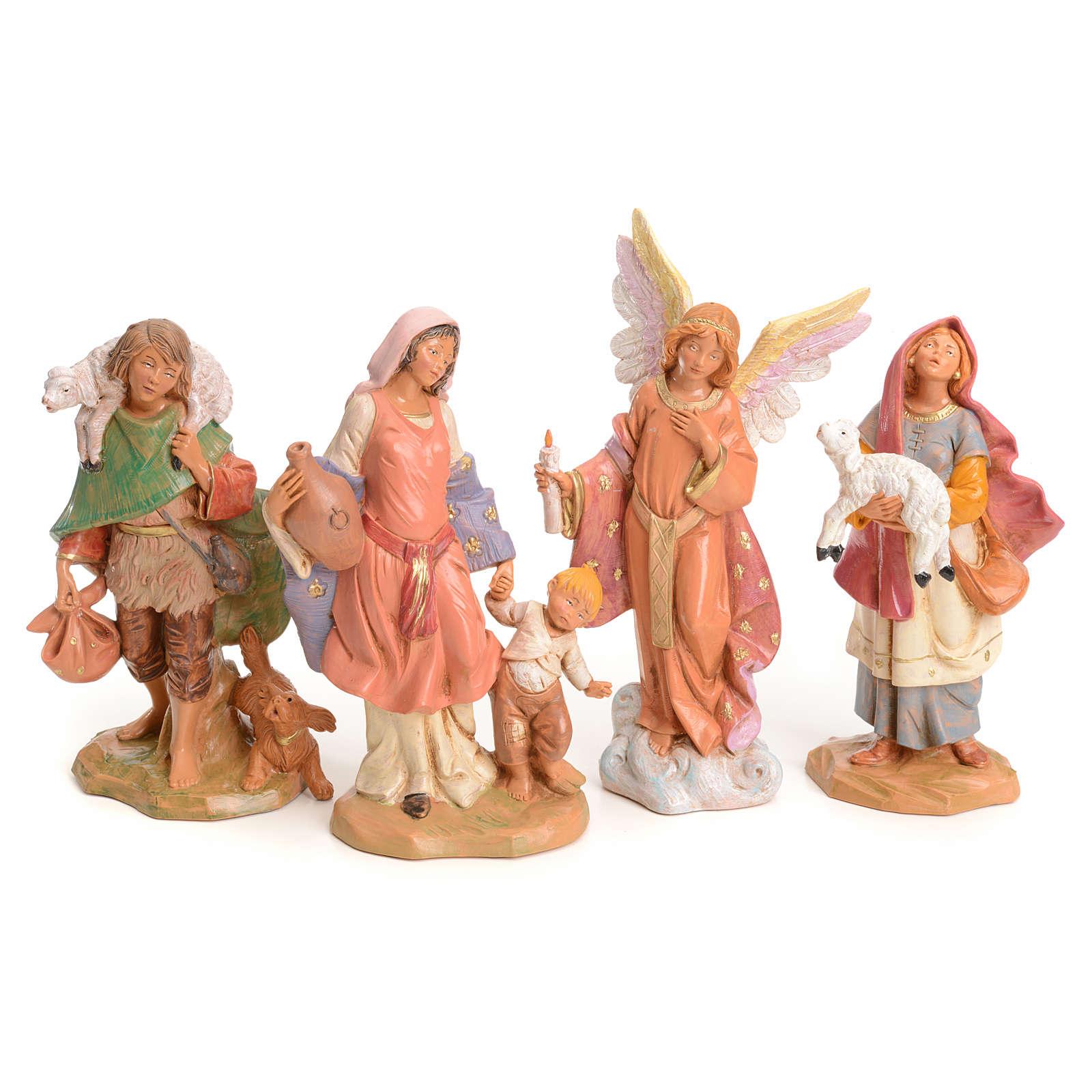 Crèche compète 15 cm Fontanini 16 santons 3