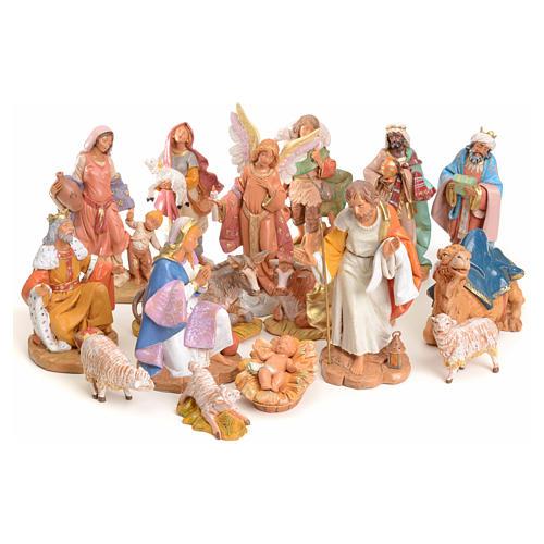 Crèche compète 15 cm Fontanini 16 santons 1