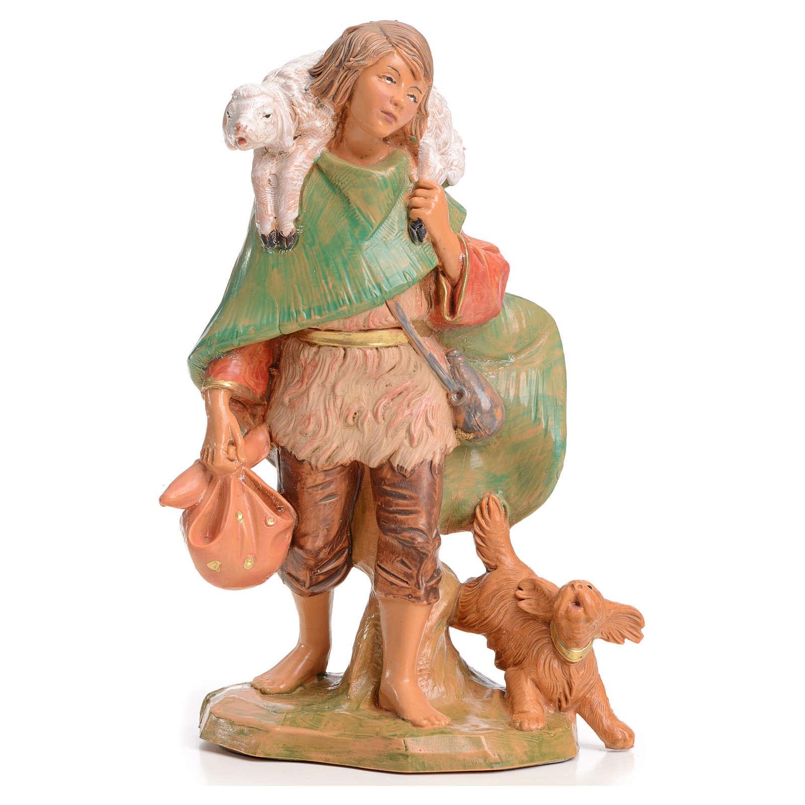 Pastore con agnello 15 cm Fontanini 3