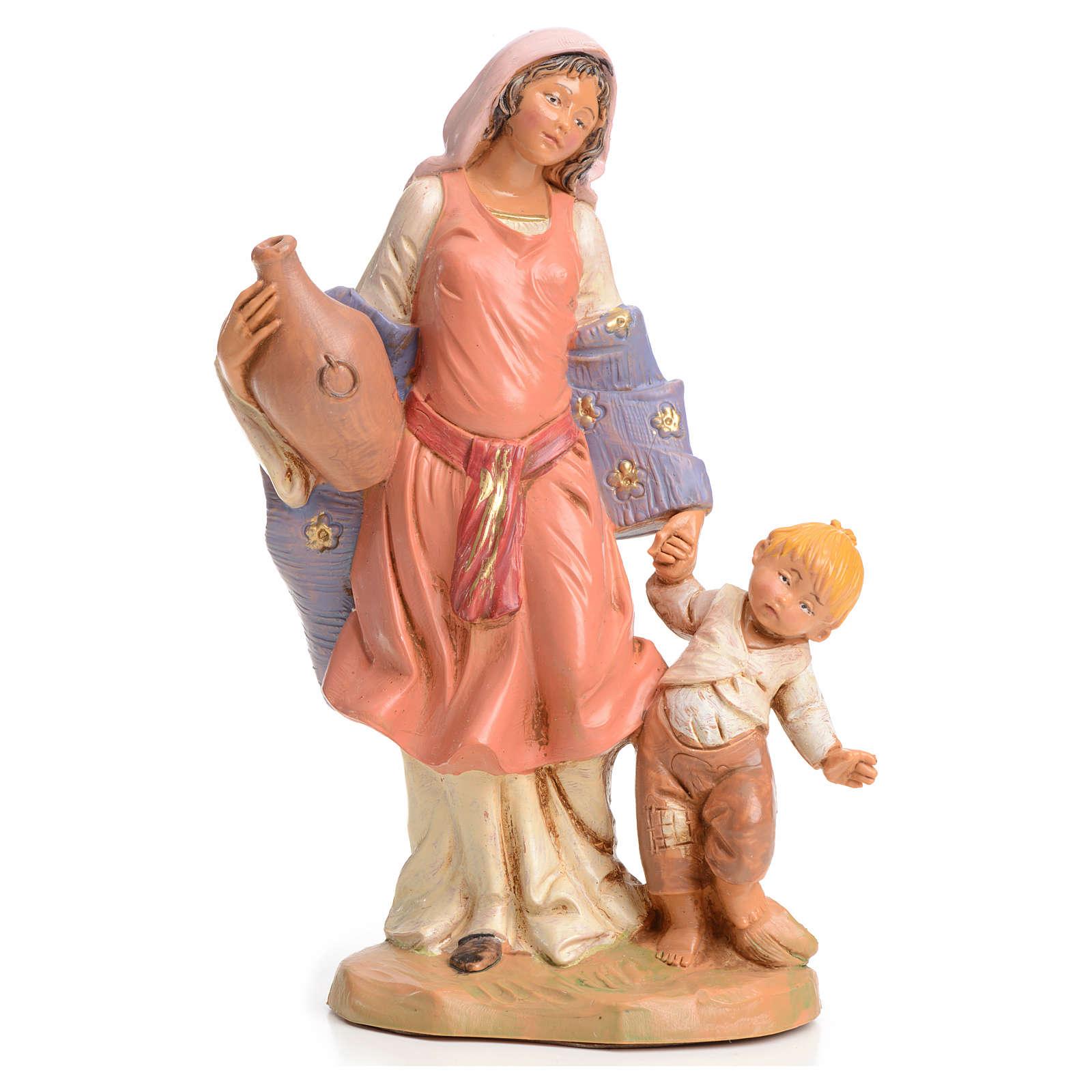 Femme à l'enfant crèche 15 cm  Fontanini 3