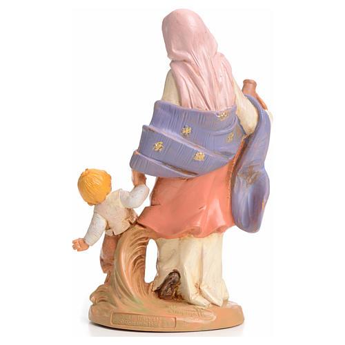 Femme à l'enfant crèche 15 cm  Fontanini 2