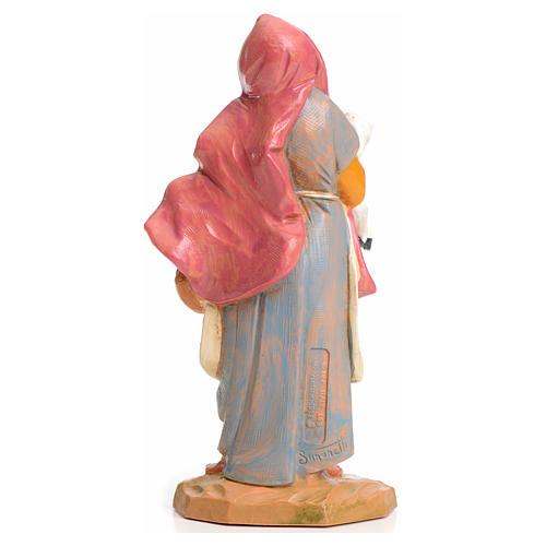 Mujer con cordero en las manos 15cm Fontanini 2