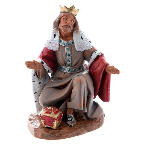 Roi Mage blanc crèche 15 cm  Fontanini 1