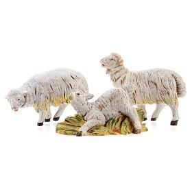 Pecore set 3 pezzi per presepe di altezza media 15 cm Fontanini s1