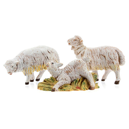 Pecore set 3 pezzi per presepe di altezza media 15 cm Fontanini 1