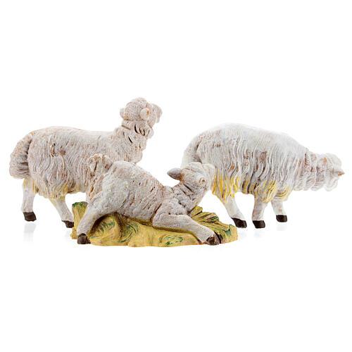 Pecore set 3 pezzi per presepe di altezza media 15 cm Fontanini 5