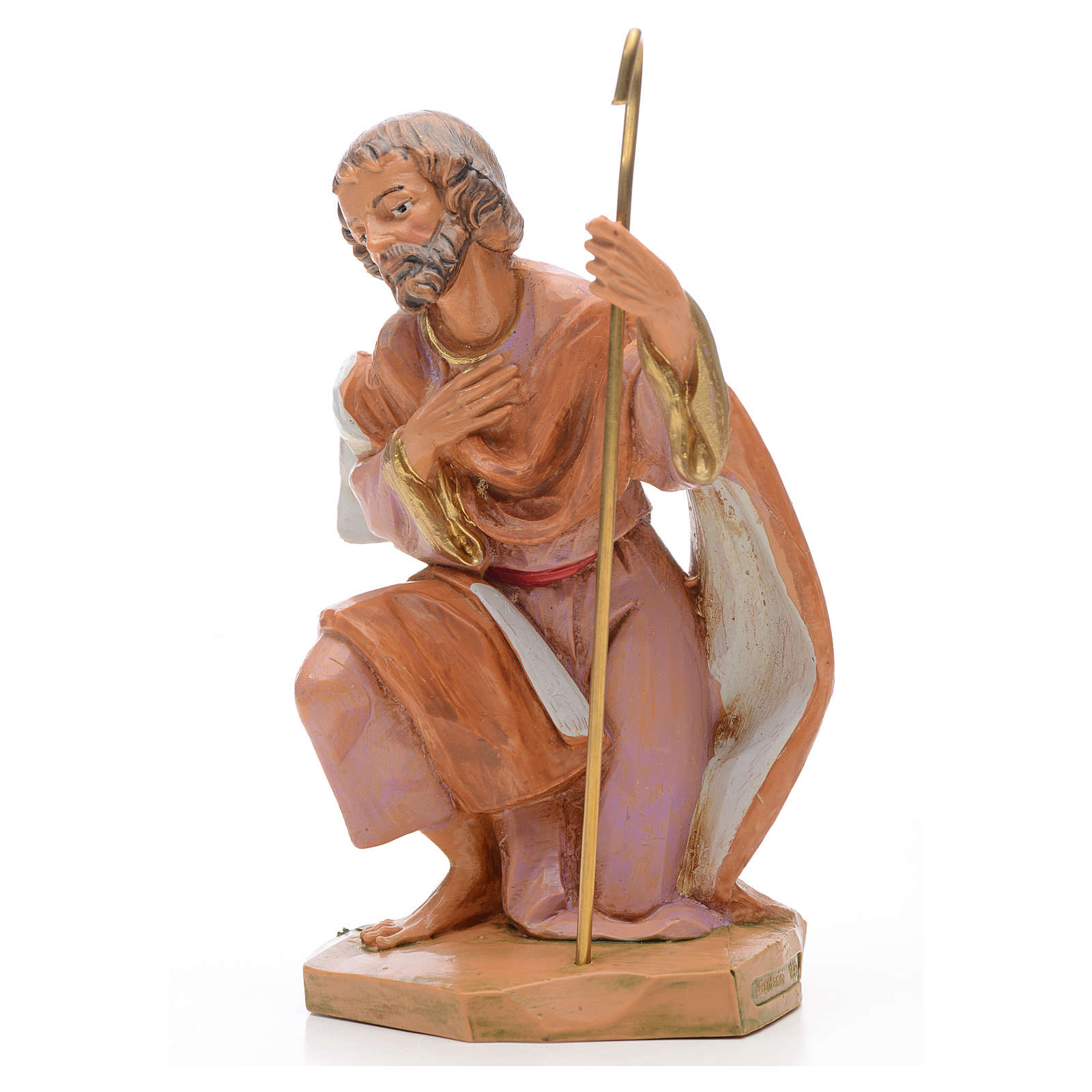 San Giuseppe per Presepe Fontanini altezza media 17 cm 4