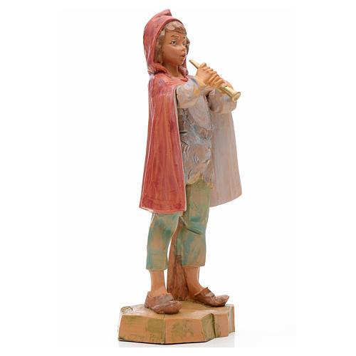 Pastore con flauto 17 cm Fontanini 2