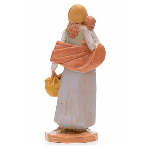 Pastorella con bambino 17 cm Fontanini 3