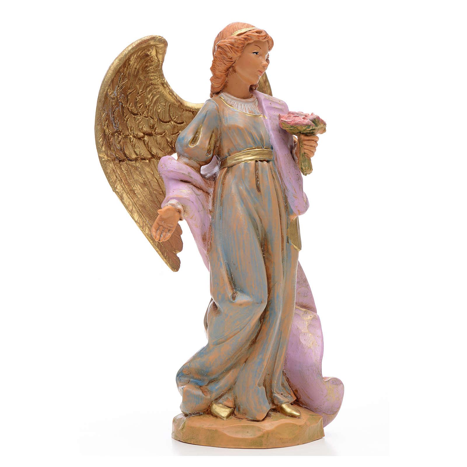 Anioł z bukietem kwiatów 17 cm Fontanini 3
