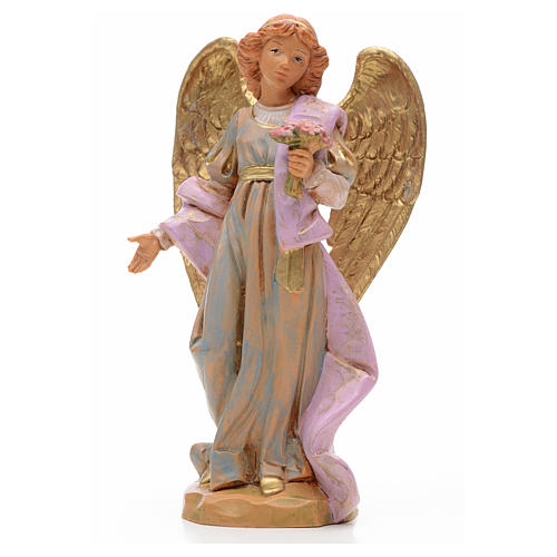 Anioł z bukietem kwiatów 17 cm Fontanini 1