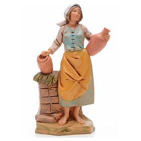 Statue per presepi: Pastorella con brocche 17 cm Fontanini