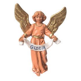 Figuras del Belén: Ángel gloria 9.5 cm rosa Fontanini