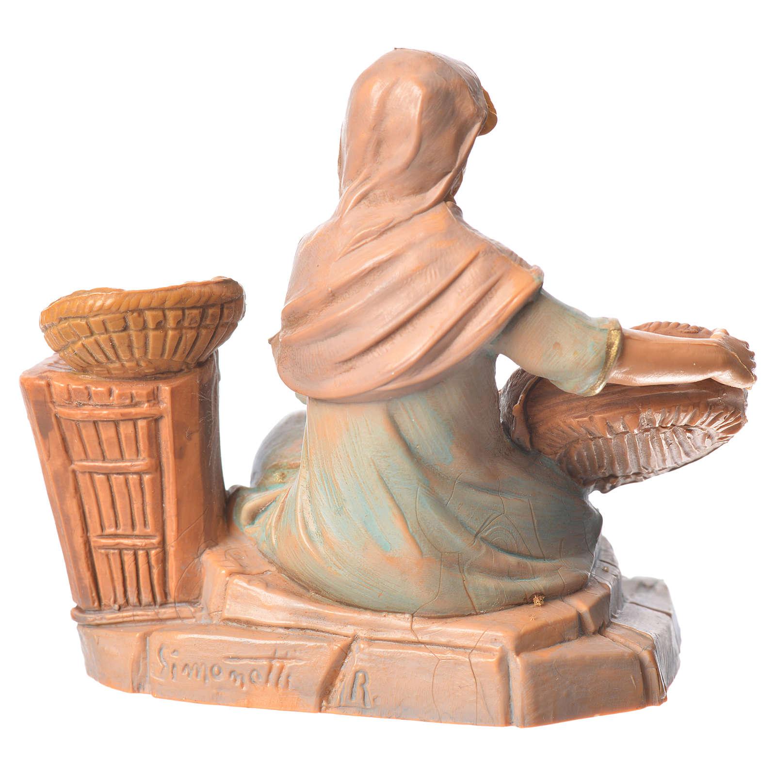 Pastorinha com cestas para Presépio Fontanini com figuras de altura média 9,5 cm 4
