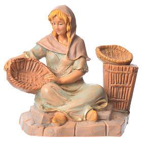 Figuras de Presépio: Pastorinha com cestas para Presépio Fontanini com figuras de altura média 9,5 cm