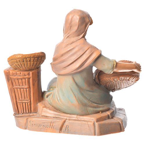 Pastorinha com cestas para Presépio Fontanini com figuras de altura média 9,5 cm 2