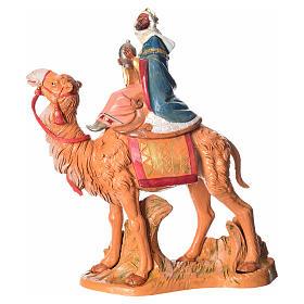 Rey Mago moro con camello, 19cm Fontanini s1