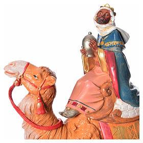 Rey Mago moro con camello, 19cm Fontanini s5
