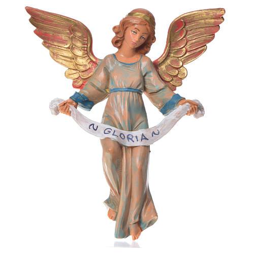 Ange de la gloire veste verte crèche Fontanini 17cm 1