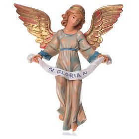 Figury do szopki: Anioł Gloria 17 cm Fontanini szata zielona