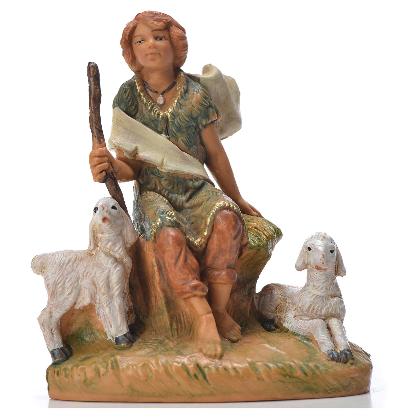 Pastor con ovejas 9.5 cm Fontanini 4