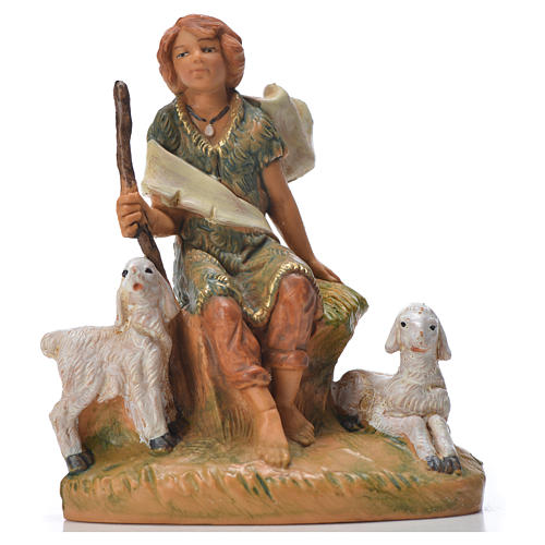 Pastor con ovejas 9.5 cm Fontanini 1
