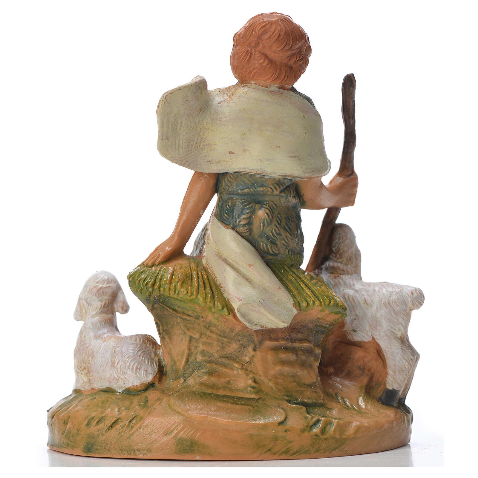 Pastorello con pecore 9,5 cm Fontanini 3