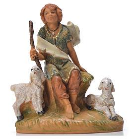 Statue per presepi: Pastorello con pecore 9,5 cm Fontanini