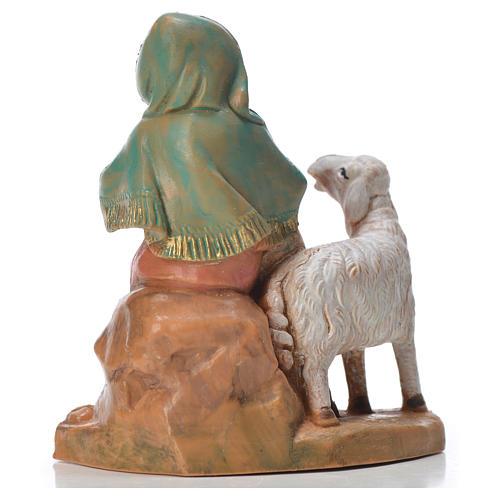 Pastorella con 2 pecore 9,5 cm Fontanini 2