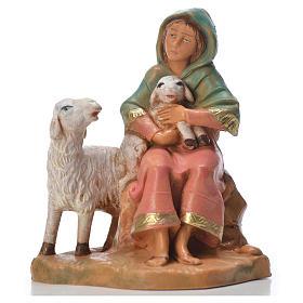 Figuras de Presépio: Pastorinha com 2 ovlehas 9,5 cm Fontanini