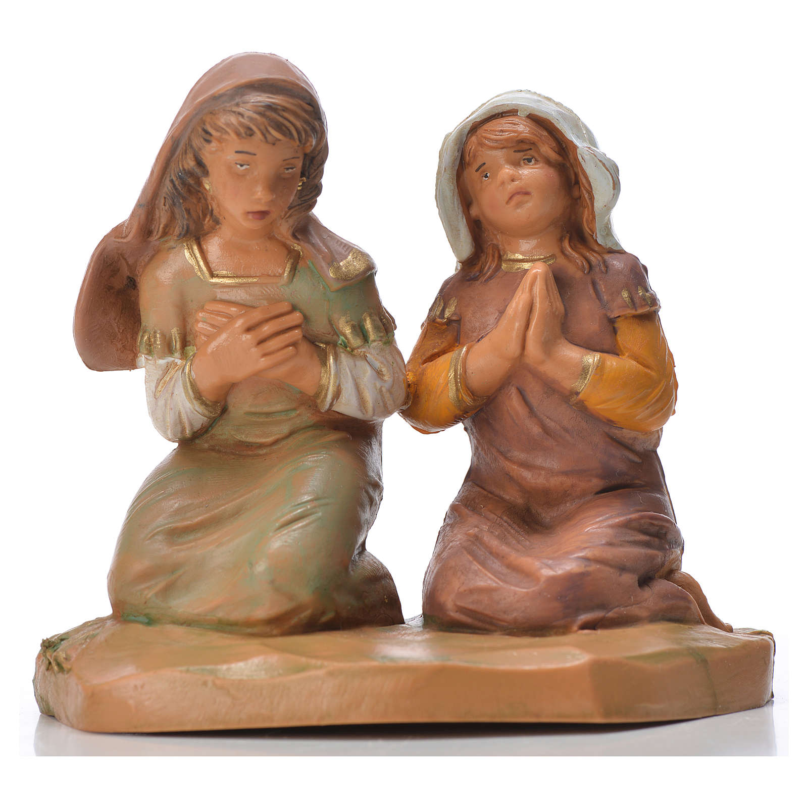 Filles en prière crèche Fontanini 12cm 4