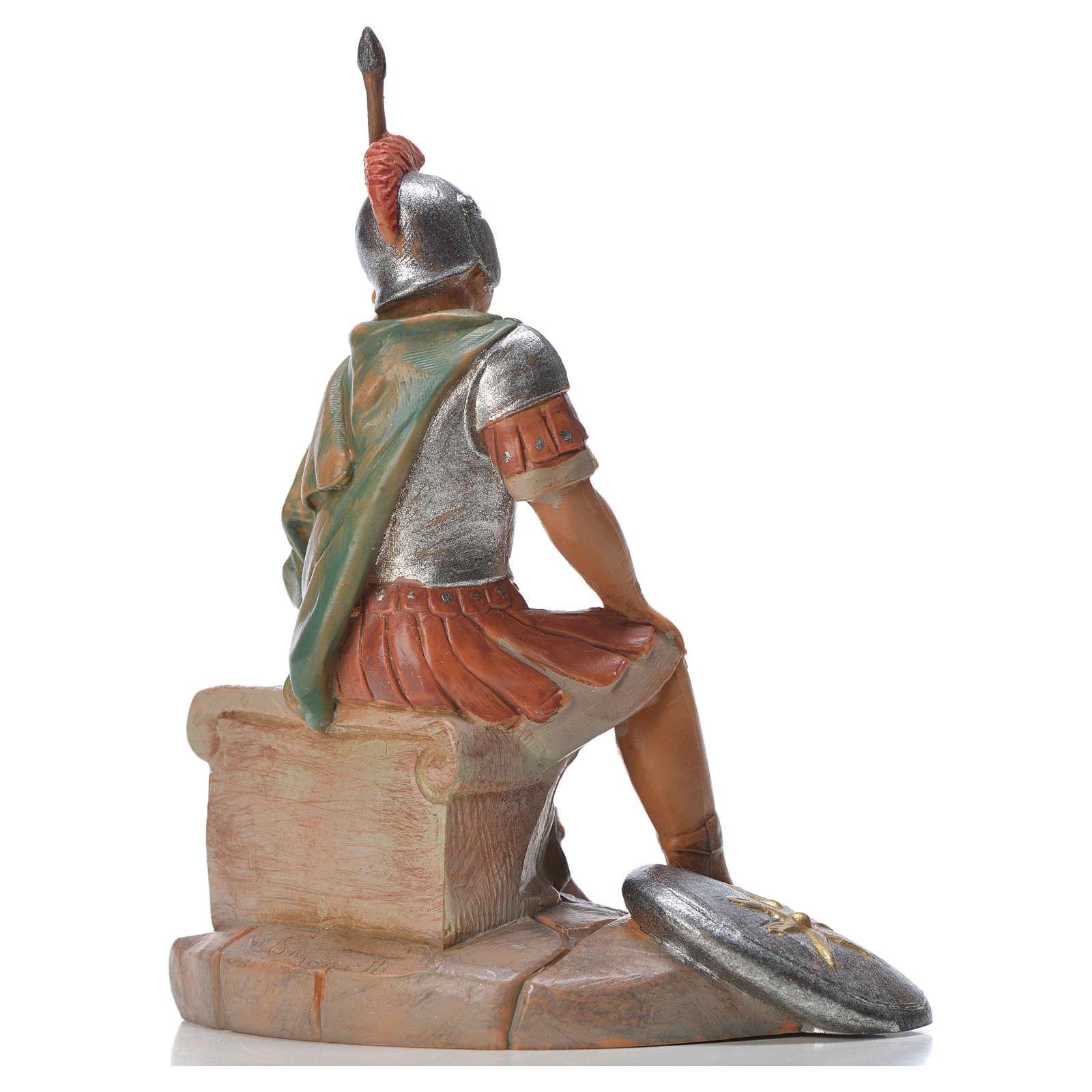 Soldat roman assis crèche Fontanini 12cm 4