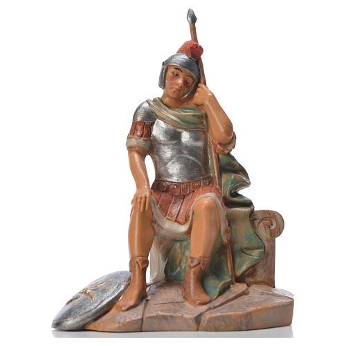 Soldat roman assis crèche Fontanini 12cm 1