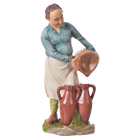 Nativity figurine, man with amphorae, 30cm resin s1