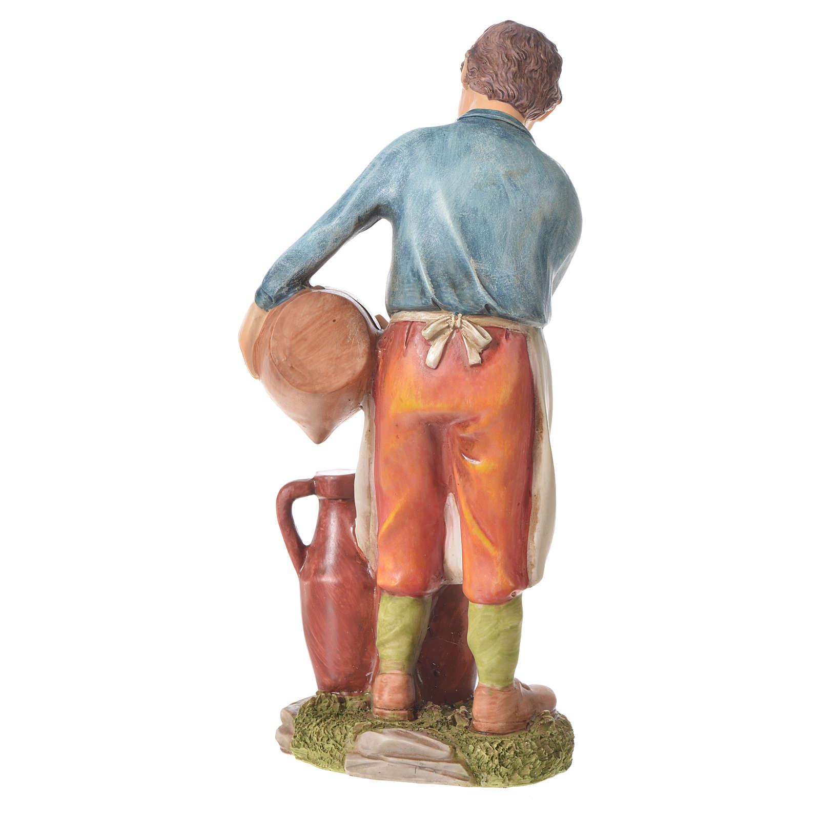 Uomo con anfore presepe 30 cm resina 3