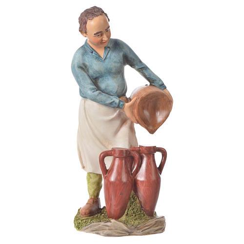 Nativity figurine, man with amphorae, 30cm resin 1