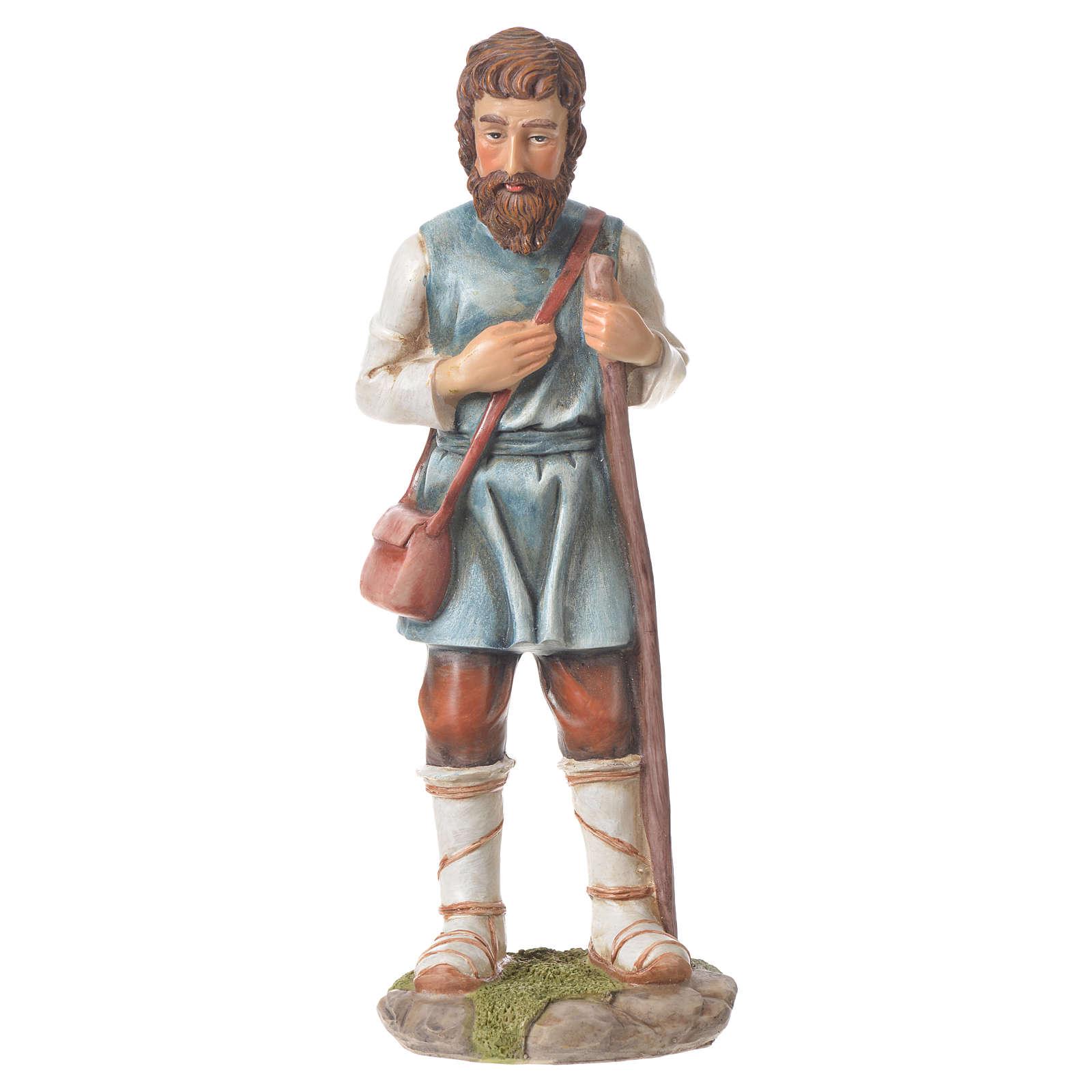 Nativity figurine, shepherd with pole, 30cm resin 3