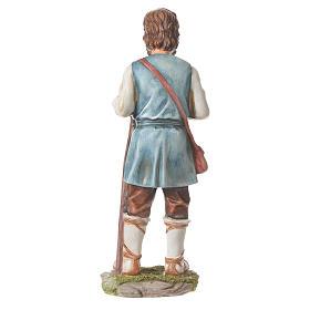 Nativity figurine, shepherd with pole, 30cm resin s3