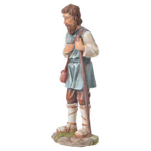 Pastor con bastón para belenes de 30cm, resina 2
