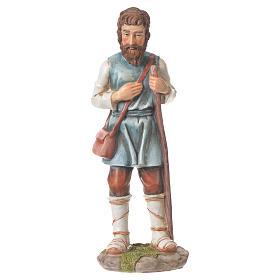 Pastor com bastão presépio 30 cm resina s1