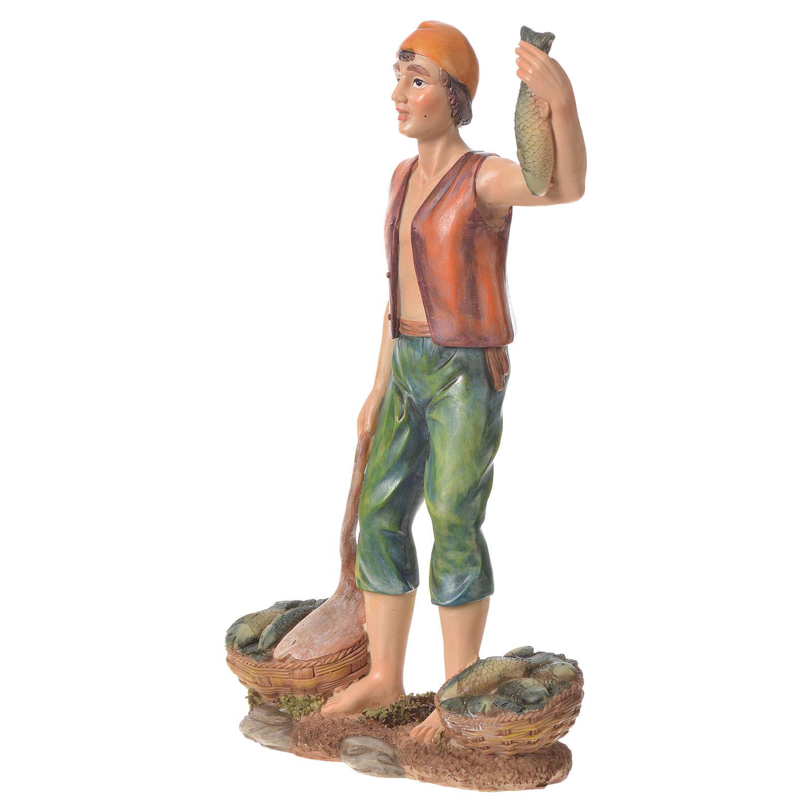 Sprzedawca ryb żywica szopka 30 cm 3
