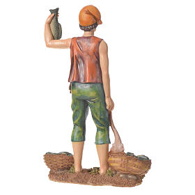 Nativity figurine, fishmonger, 30cm resin s3