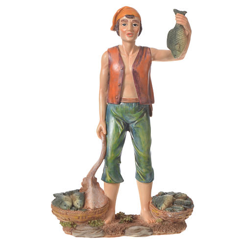 Nativity figurine, fishmonger, 30cm resin 1