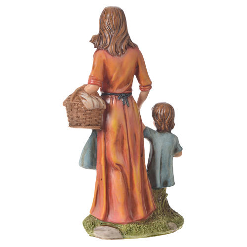 Nativity figurine, woman with little boy, 30cm resin 3