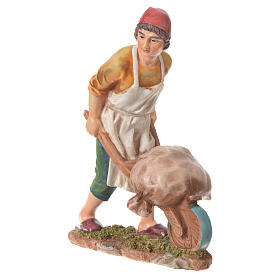 Nativity figurine, man with wheelbarrow, 30cm resin s1