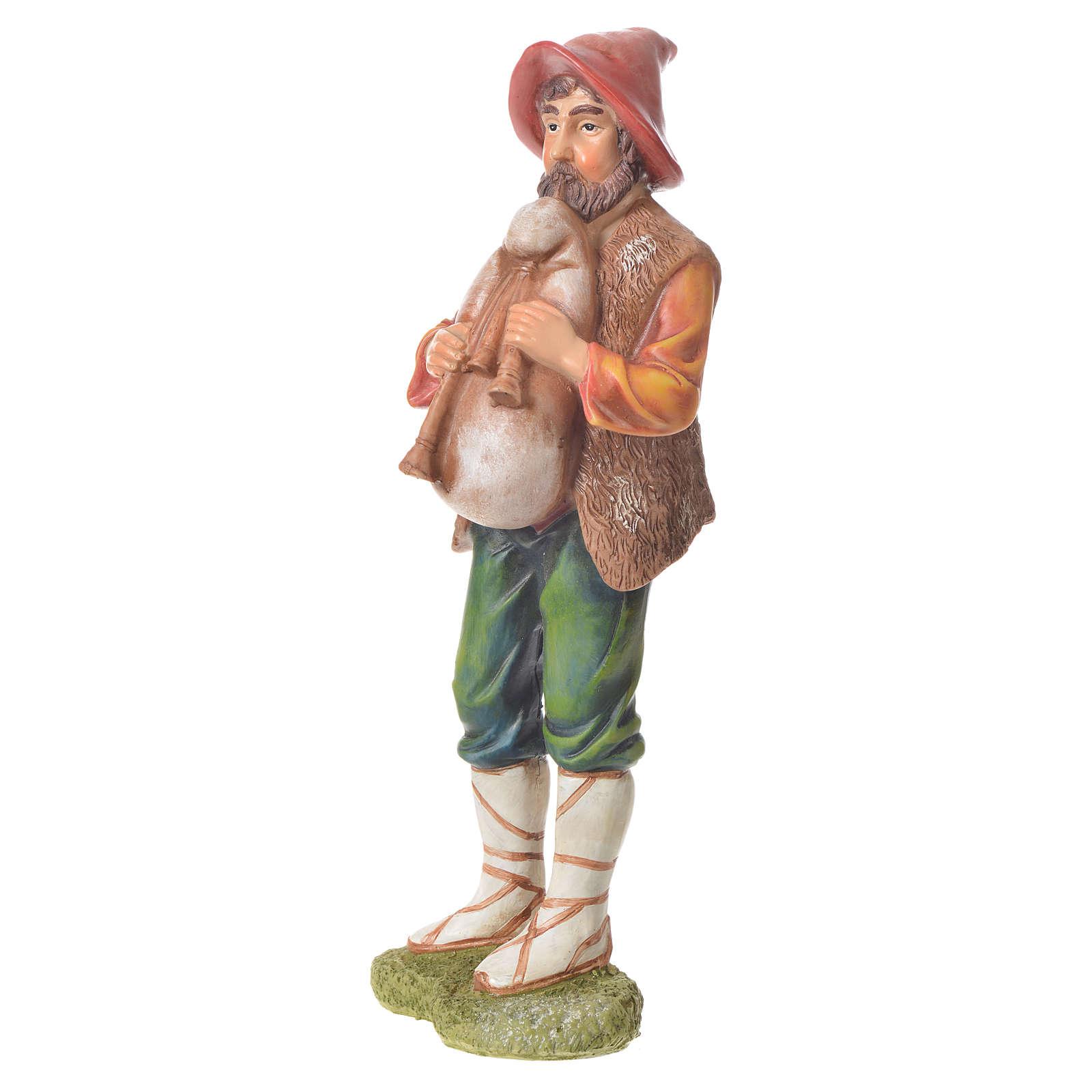 Nativity figurine, bagpiper, 30cm resin 3