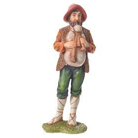 Nativity figurine, bagpiper, 30cm resin s1