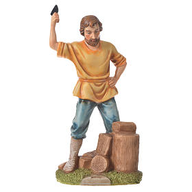 Nativity figurine, wood chopper, 30cm resin s1